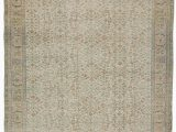 """11 by 11 area Rug Beige Turkish Vintage area Rug 6 7"""" X 9 11"""" 79 In X 119 In"""
