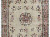 """11 by 11 area Rug Turkish Vintage area Rug 6 9"""" X 9 11"""" 81 In X 119 In"""