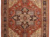 "11 by 14 area Rugs 9 11"" X 14 4"" Vintage Persian Heriz Design Wool area Rug 9693"