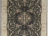 """11 by 14 area Rugs E Of A Kind Elegance Select Handwoven 11 9"""" X 14 9"""" Wool Silk Black Gray area Rug"""