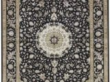 "11 X 17 area Rugs E Of A Kind Walton Hand Knotted Black Beige 11 8"" X 17 11"" area Rug"