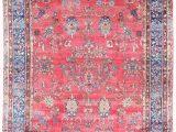 11 X 18 area Rug Antique Persian Kerman C1920 11 X 18 Blue Rose area Rug