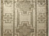 12 X 12 Square area Rug E Of A Kind Hand Knotted Brown 9 X 12 Wool area Rug