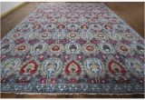 12 X 12 Wool area Rug Shop Hand Knotted Modern Oushak Turkish Knotted Blue
