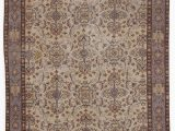 """12 X 20 area Rugs Purple Brown Turkish Vintage area Rug 5 3"""" X 9 5"""" 63 In X 113 In"""
