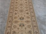 """13 by 15 area Rugs Chobi Beige Runner Hand Knotted 2 9"""" X 14 8"""" area Rug 700"""