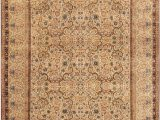 """13 by 15 area Rugs E Of A Kind Lavar Hand Knotted Brown 13 9"""" X 15 4"""" Wool area Rug"""