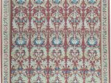 """13 X 20 area Rugs E Of A Kind Aubusson Renaissance Hand Knotted Red Blue 13 4"""" X 20 1"""" Wool area Rug"""