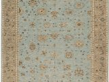 """15 X 18 area Rug E Of A Kind Hand Knotted Light Blue Light Brown 12 2"""" X 15 6"""" Wool area Rug"""