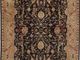 16 X 20 area Rugs Due Process Stable Trading Peshawar Farahan Black & Gold