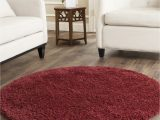 2 Inch Pile area Rug Cozy soft Thick Maroon Shag area Rug 2 Inch Pile Height