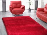 2 Inch Pile area Rug Shop Red Shag area Rug Two Inch Pile Thick with Cotton