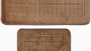 2 Pc Bathroom Rug Set Amazon 2 Pcs Bathroom Rug Mat Set Polyester soft