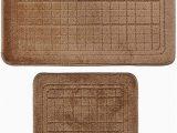 2 Piece Bathroom Rugs Amazon 2 Pcs Bathroom Rug Mat Set Polyester soft