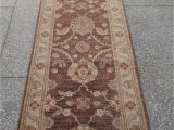 "20 by 20 area Rug Chobi Brown Runner Hand Knotted 2 9"" X 19 4"" area Rug 700"