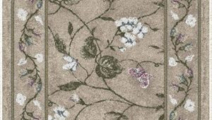 "20 X 34 area Rug Brumlow Mills butterfly Floral area Rug for Kitchen Living Room or Home Accent Carpet 20""x34"" Opal"