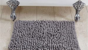 """24 Square Bath Rug Better Trends Loopy Chenille Square Bath Rug 24"""" Grey"""