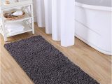 "24 Square Bath Rug Vcny Home Paper Shag Bathroom Rug 24"" X 60"" Gray"