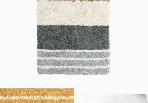 24 X 24 Bath Rug Chunky Loop Marigold Stripe 24 In X 40 In Cotton Bath Rug
