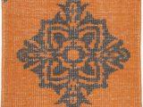 24 X 36 area Rug Zahra Burnt orange Black Wool area Rug 24 X 36