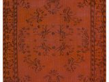 """24 X 60 area Rugs orange Over Dyed Turkish Vintage Rug 5 X 8 5"""" 60 In X 101 In"""