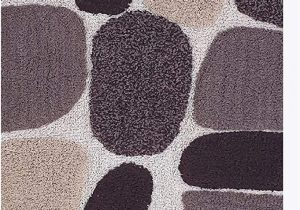 "24 X 60 Bathroom Rug Pebble Stone Bath Runner Antiskid 24""x60"" soft & Absorbent Bathroom Rugs Non Slip Bath Rug Runner for Kitchen Bathroom Floors Beige Brown"