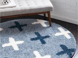3 Ft Round area Rugs athena Shag Blue 3 Ft Round area Rug In 2020
