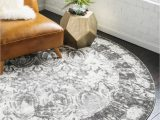 3 Ft Round area Rugs Brighella Gray Vintage 3 Ft Round area Rug In 2020