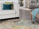 3 Ft Round area Rugs Buy Ivory 5 3 Round Universal Rugs Contemporary