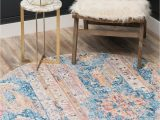 3 Ft Round area Rugs Vega Blue Vintage 3 Ft Round area Rug In 2020