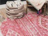 3 Ft Round area Rugs Vega Pink Vintage 3 Ft Round area Rug In 2020