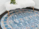 3 Ft Round area Rugs Williamsburg Blue Vintage 3 Ft Round area Rug In 2020