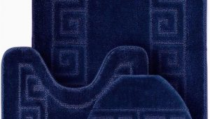 3 Piece Memory Foam Bath Rug Set Wpm World Products Mart Bathroom Rugs Set 3 Piece Bath Pattern Rug 20×32 Large Contour Mats 20×20 with Lid Cover Navy