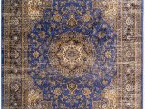 30 X 30 area Rug Cam Living Lauren area Rug Blue & Brown Traditional