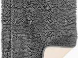30 X 30 Bath Rug Magnificent 2 Pack Shaggy Bath Mat 30 X 20 Inch Chenille Bathroom Rug Mat Ultra soft & High Absorbent Grey