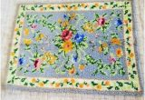 30 X 40 area Rug Latch Hook Floral area Accent Rug Unfinished 30 X 40 Ebay