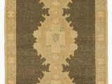 """36 X 36 area Rug Beige Brown All Wool Hand Knotted Vintage area Rug 3 X 6 6"""" 36 In X 78 In"""