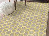 """36 X 60 area Rug Hand Woven Jute Hemp Cotton Hexagon 3 X5 area Rug Indoor Outdoor Throw Runner Bedroom Entryway Kitchen 36""""x60"""" Yellow"""