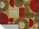 3×5 area Rugs with Rubber Backing Buy Adgo Collection Modern Live Red and Beige Contemporary