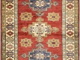 "4 by 5 area Rugs E Of A Kind Alayna Hand Knotted 3 5"" X 4 6"" Wool Red Beige area Rug"