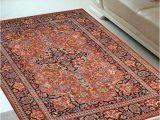 4 by 6 Foot area Rugs Rust Kashan 4 X 6 Feet Silk Carpets India area Rug