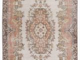 """4 by 7 area Rug Turkish Vintage area Rug 4 X 7 3"""" 48 In X 87 In"""