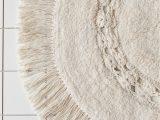 4 Foot Round Bathroom Rug Raine Crochet Round Bath Mat In 2020