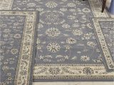 4 Piece area Rug Sets Florence isfahan Grey Blue