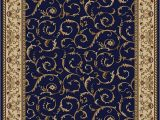 4 Piece area Rug Sets Km Home Closeout 1599 1550 Navy Pesaro Blue 3 3
