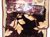 4 Piece Bath Rug Set Brown Leaf Leaves Design 4 Pc Bath Mat Set Mat Contour Shower Curtain 12 Fabric Covered Shower Hooks