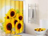 4 Piece Bath Rug Set New Arrival Sunflower 4 Piece Bath Rug Microfiber Memory Foam Bathroom Mat Set with Shower Curtain Buy Bathroom Mat Set with Shower