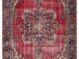 "4 X 10 area Rug Turkish Vintage area Rug 6 4"" X 10 76 In X 120 In"