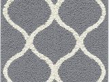 """4 X 5 Bathroom Rugs Maples Rugs Rebecca Contemporary Runner Rug Non Slip Hallway Entry Carpet [made In Usa] 1 9"""" X 5 Grey White"""