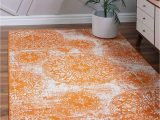 4 X 6 area Rugs with Rubber Backing Unique Loom sofia Traditional area Rug 4 0 X 6 0 orange